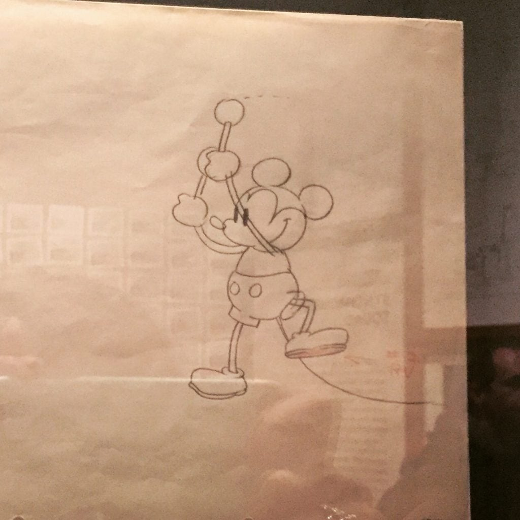 Early Mickey Mouse Drawing