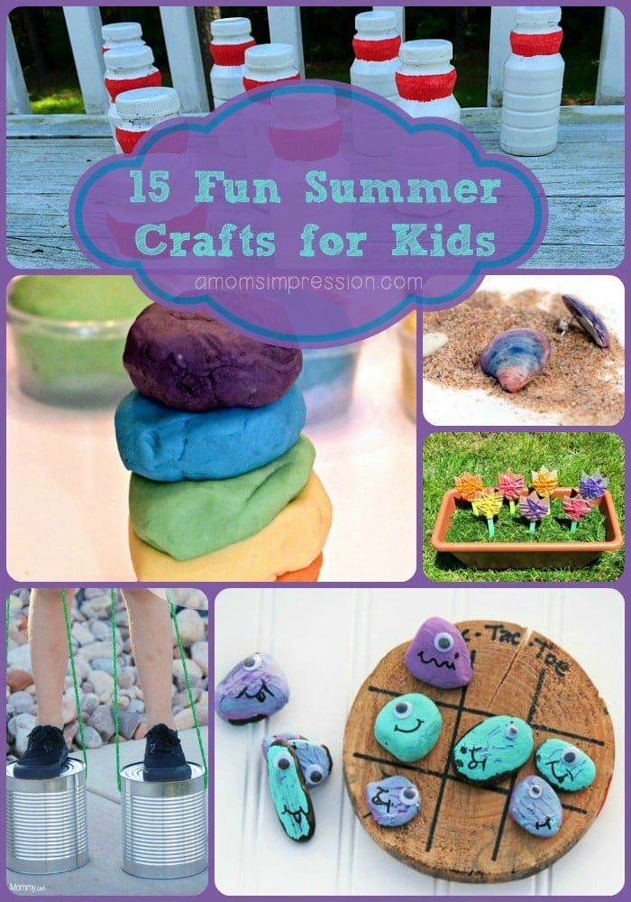 Summer Crafts Purple Text