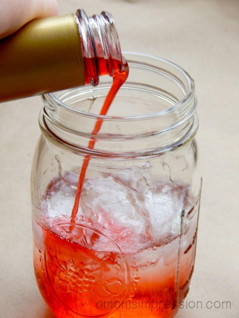 raspberry italian soda process photo 3 reduced