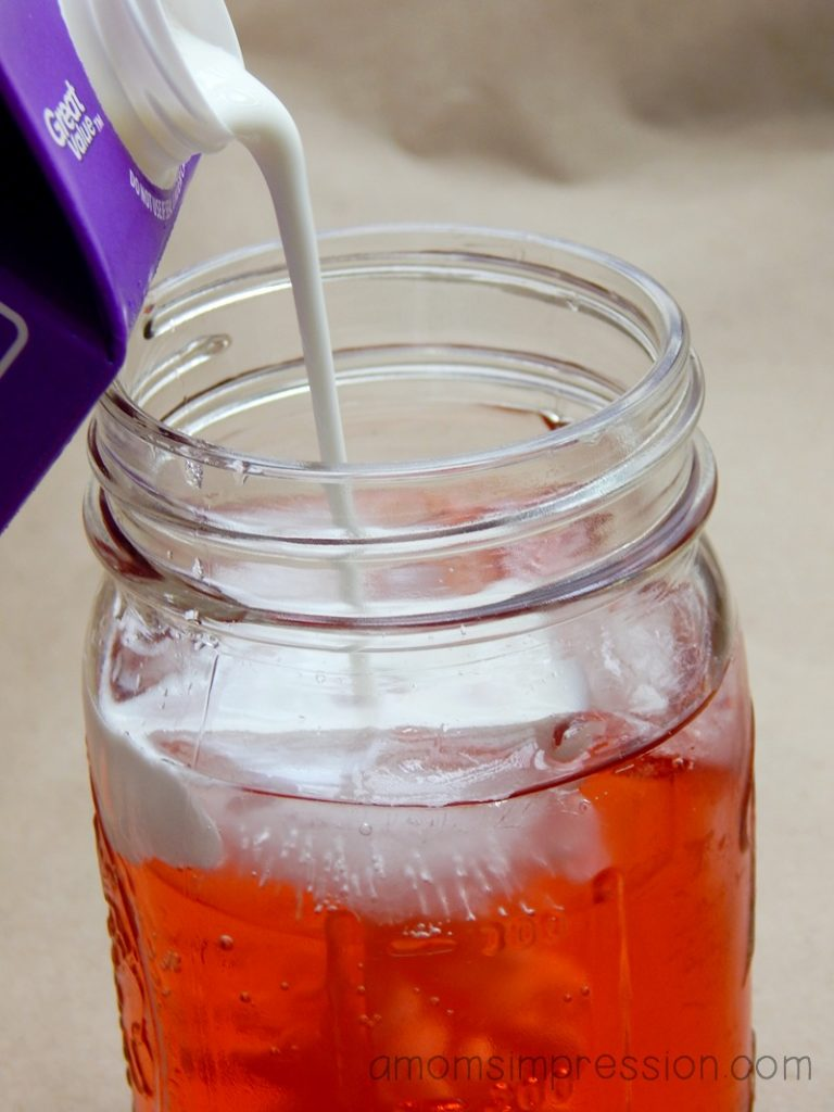 raspberry italian soda process photo 5 reduced