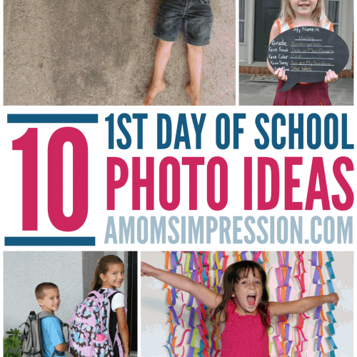 Gear up for school starting with these fun First Day of School Picture Ideas