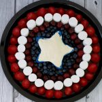 Captain America Fruit Shield with Yogurt Fruit Dip
