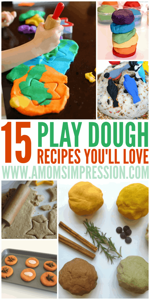 You will LOVE these 15 play dough recipes for kids and so will they! Find out how to make everything from glow play dough to pumpkin spice play dough!