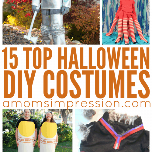 Looking for clever ideas for DIY Halloween Costumes? Here are 15 easy ideas for kids, couples and even dogs. My son is going as #9 this year!