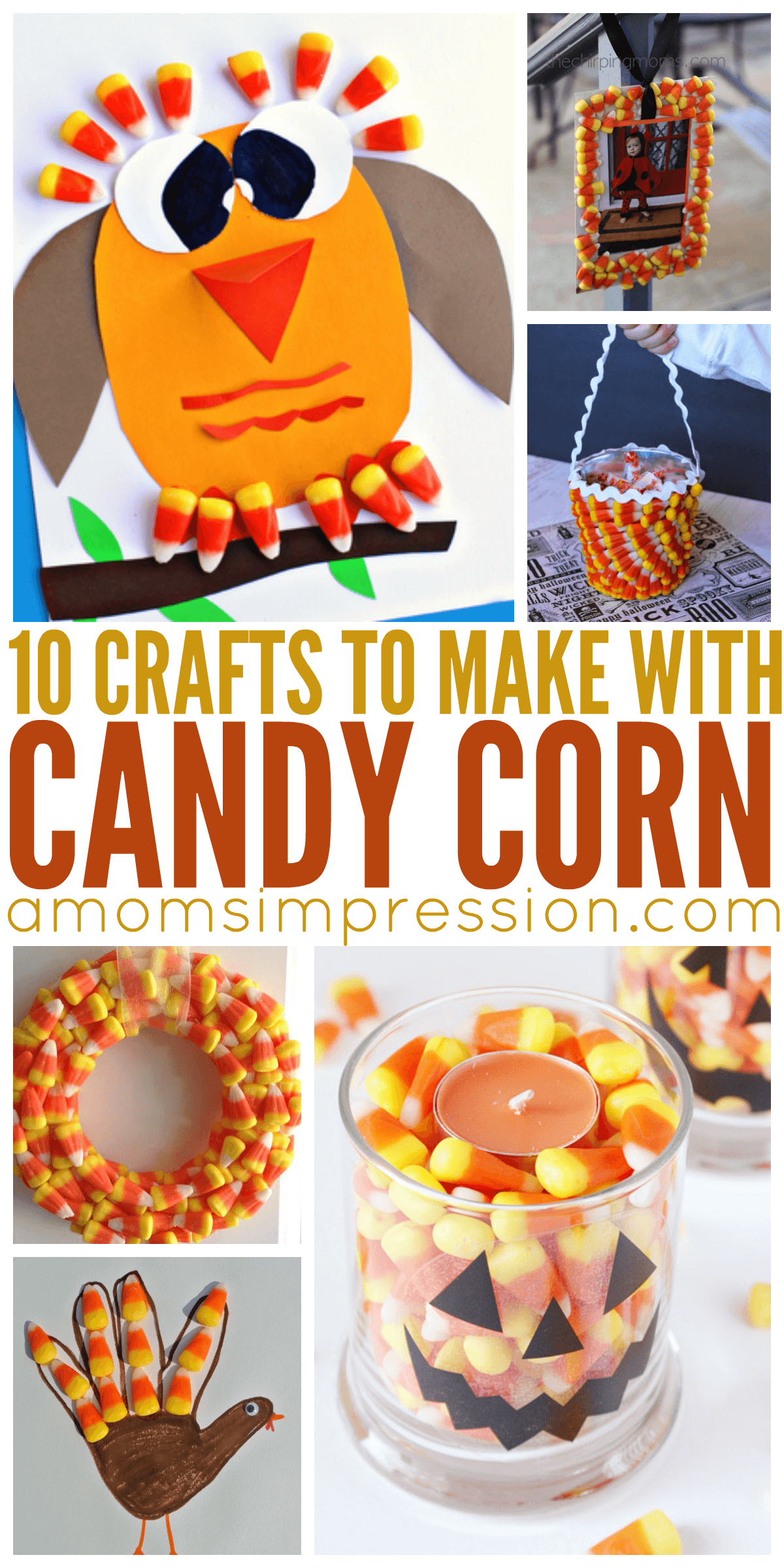 Do you love Candy Corn? Check out these DIY Candy Corn Crafts for kids or for your home. These ideas are perfect for fall and can be made with your kids as young as preschool.
