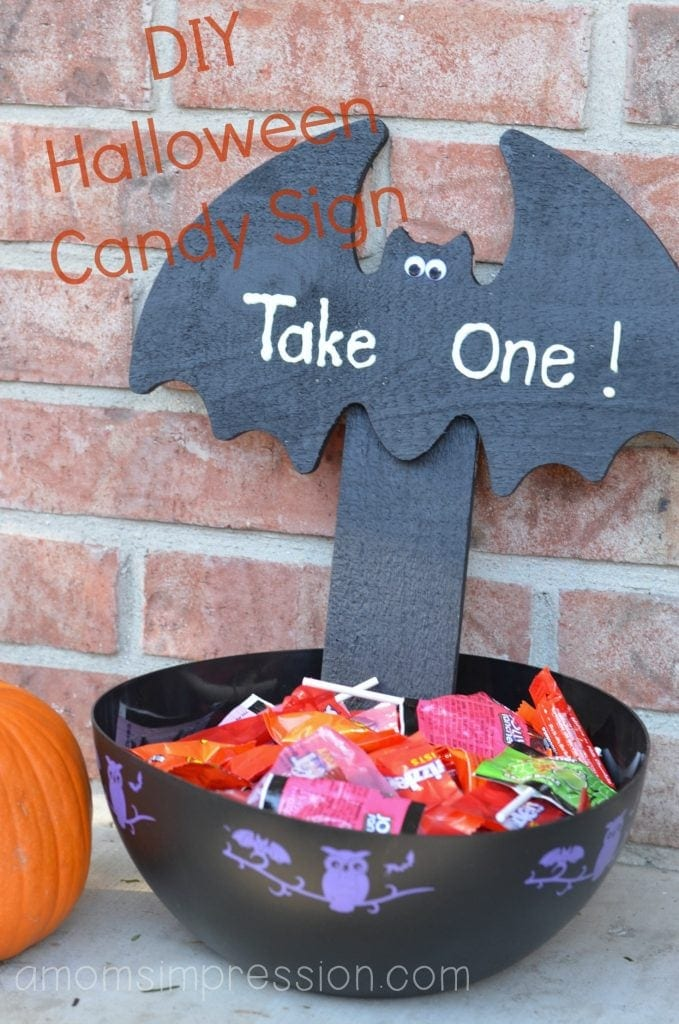 DIY Halloween Candy Sign