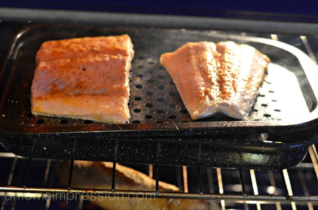 Broiling Salmon
