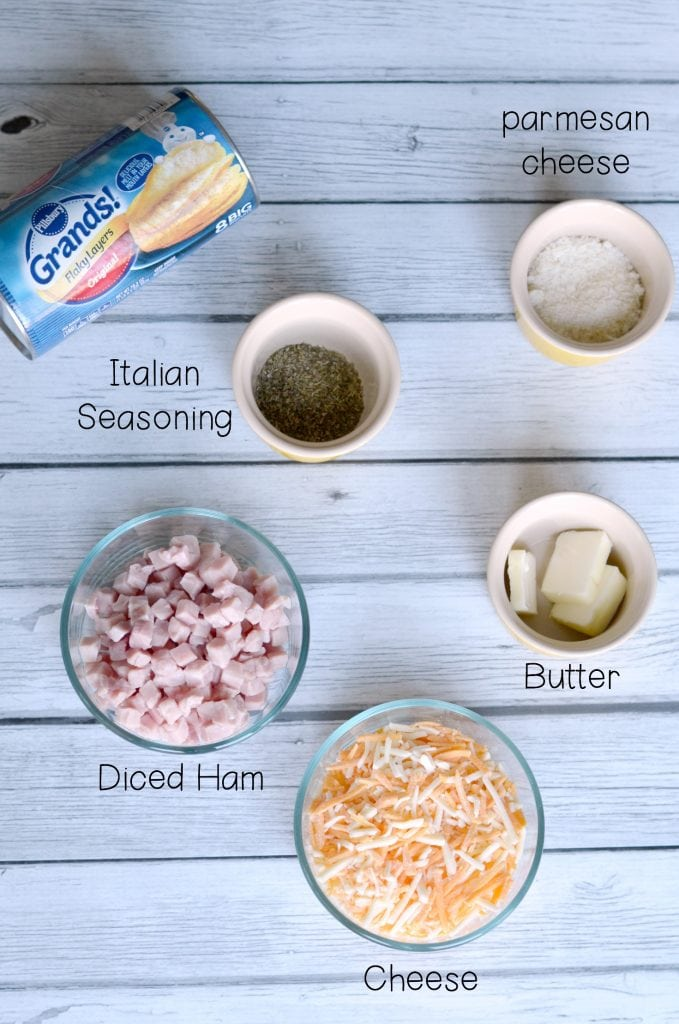 Ham and Cheese Bomb Ingredients