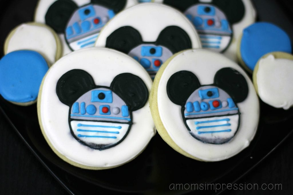 Mickey Star Wars Cookies