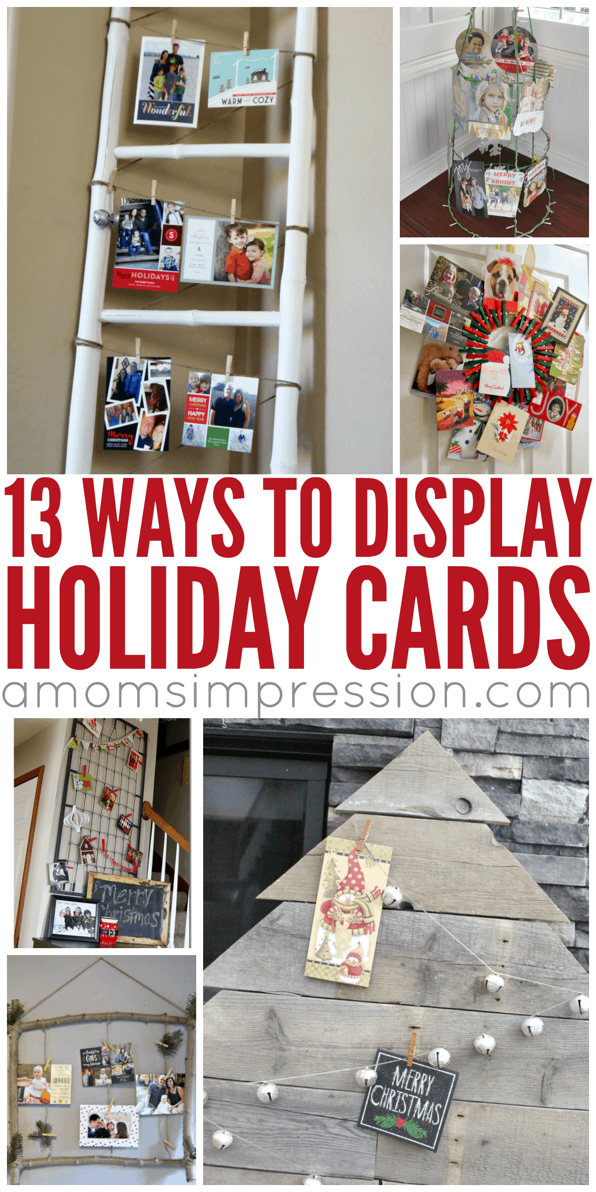 I love getting holiday cards in the mail but often I don't know how to display them. These DIY Holiday Card Display Ideas are perfect for the Christmas season. #9 is ingenious and my favorite!