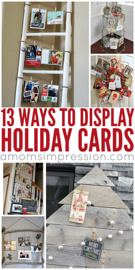 Ways to display holiday cards