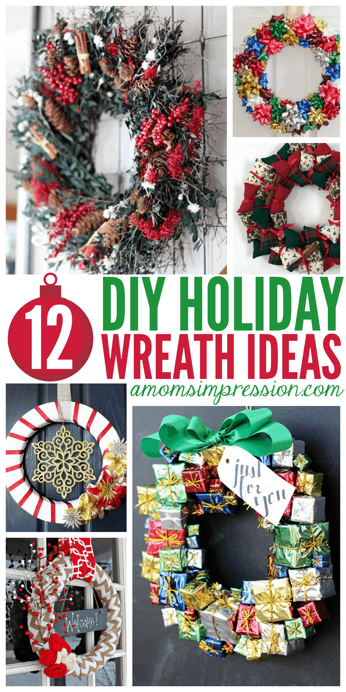 10 Best Diy Christmas Wreath Ideas A Mom S Impression Recipes