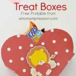 DIY Valentine Treat Boxes ~ Free Printable