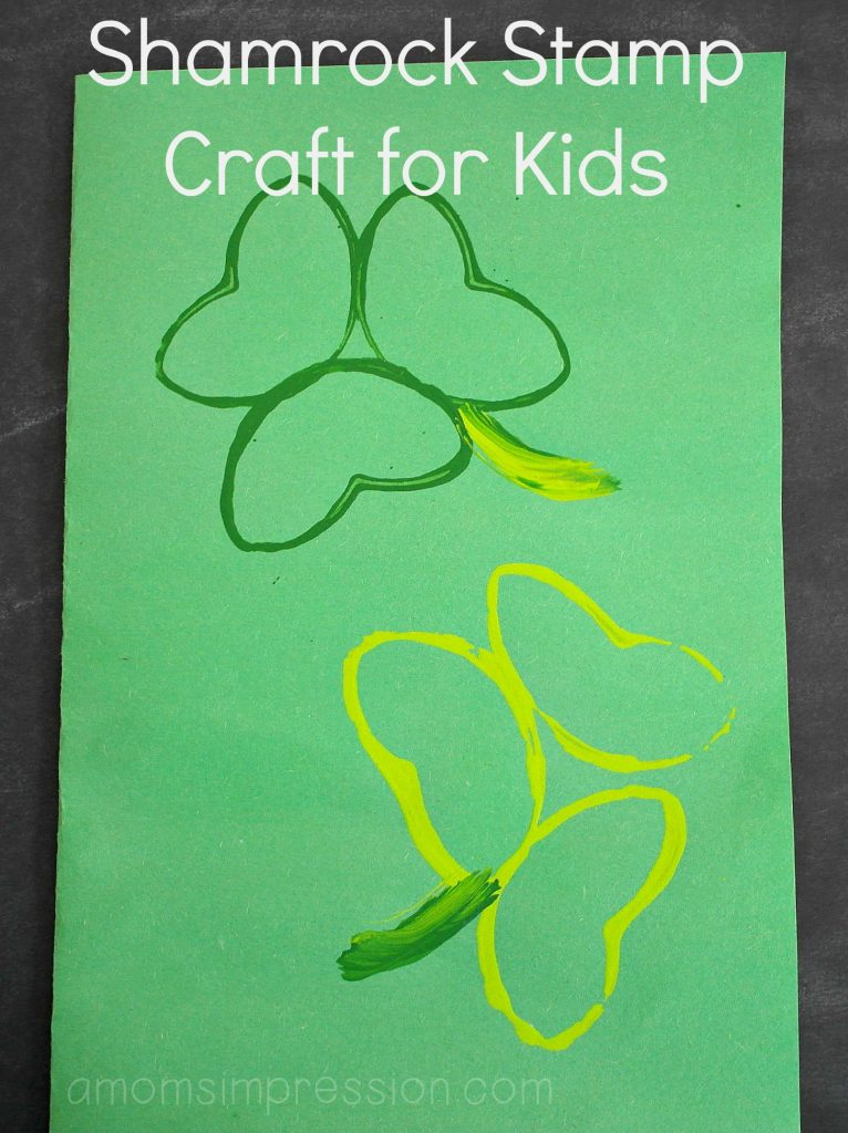 Toddlers and kids alike will love this fun St. Patrick's Day craft. Grab some paper, paint and empty toilet tissue rolls and you are ready to go!