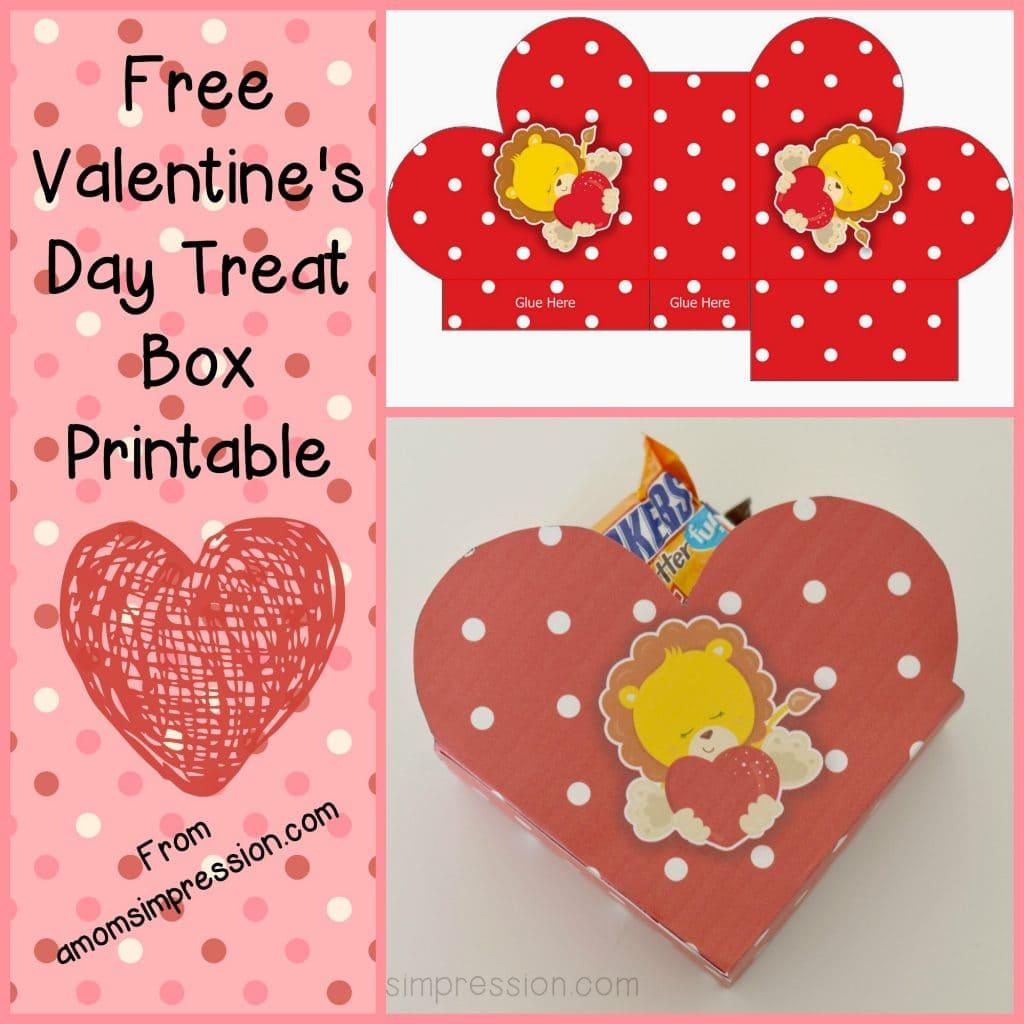 Valentine's Day Treat Box Printable