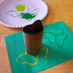 St. Patrick's Day Crafts for Toddlers – Shamrock Stamp Craft for Kids