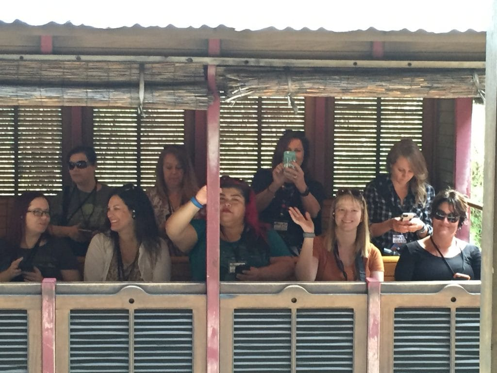 Bloggers on a Train