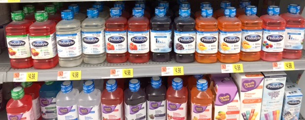 Pedialyte at Walmart