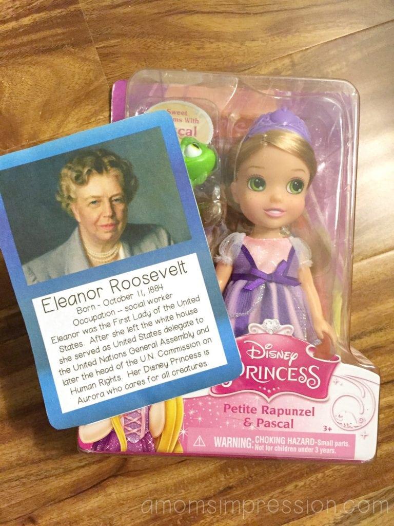 Princess trading card tags