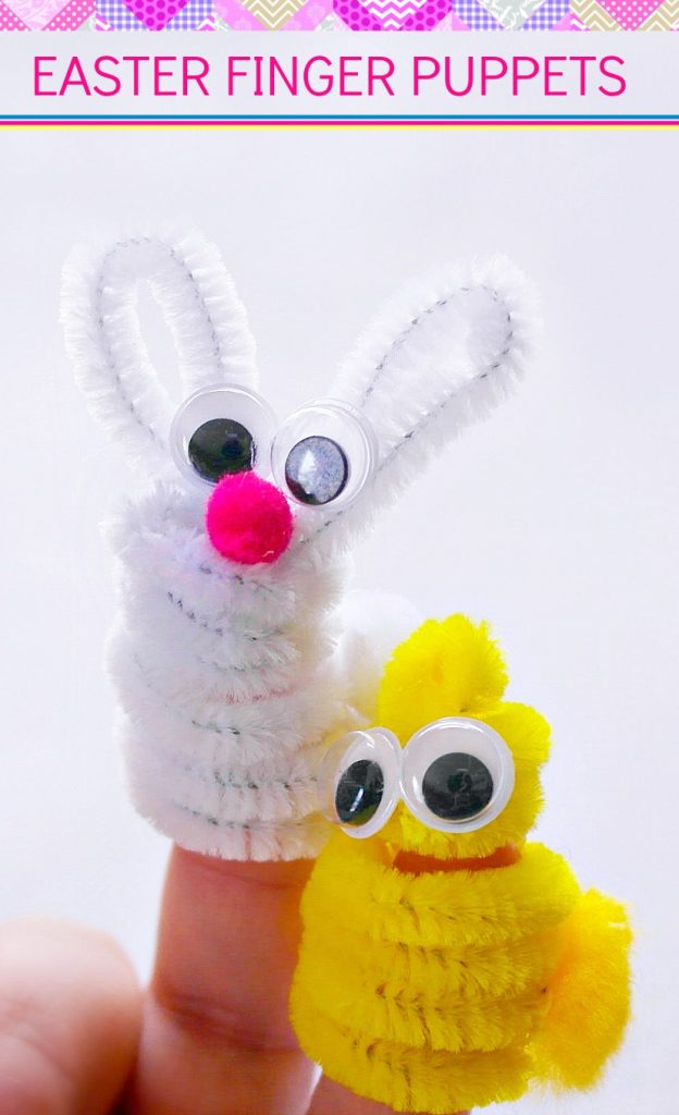 Looking for an easy DIY Easter craft for toddlers or preschoolers?  These adorable Easter finger puppets are super simple to make and the kids love them!