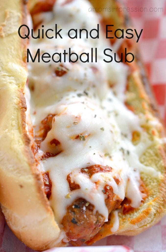 You won't believe how quick and easy it is to make this meatball sub! This quick and easy meatball sub recipe takes minimal time to make and is perfect for lunch or dinner. #ad #meatballs