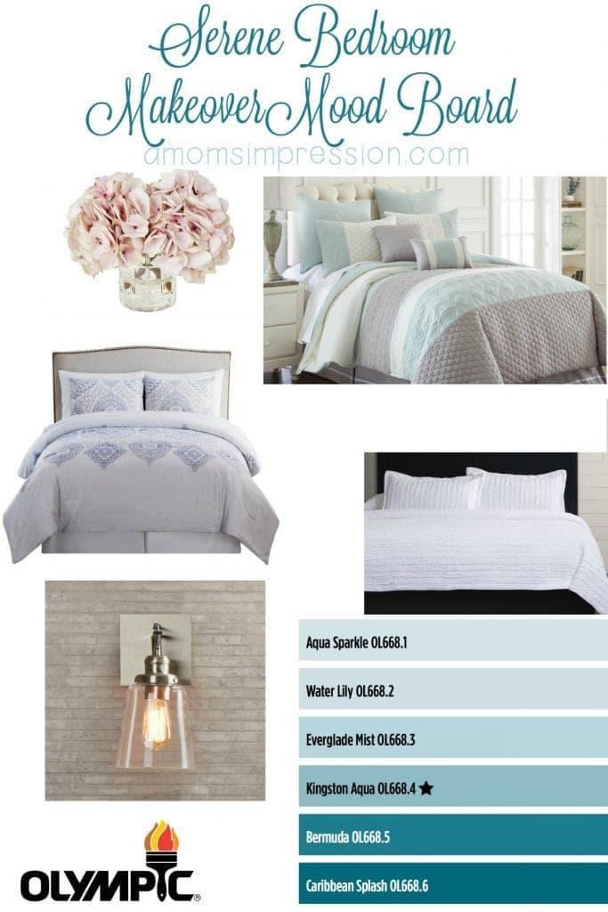 Serene Bedroom Makeover Mood Board
