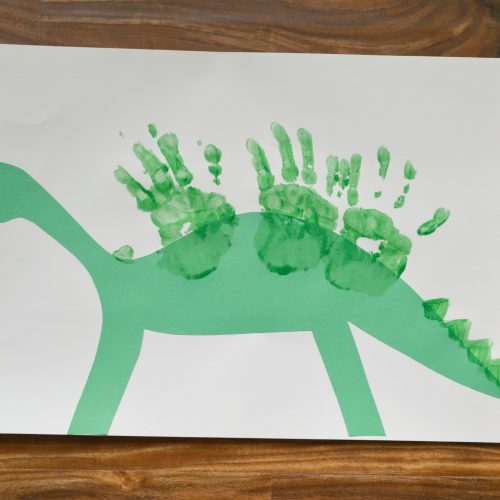 Dinosaurs for Dinner and a Simple Dinosaur Craft