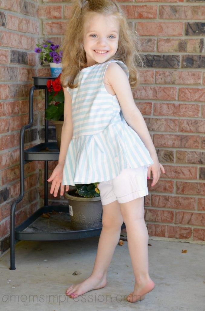 Girl in Ralph Lauren short set