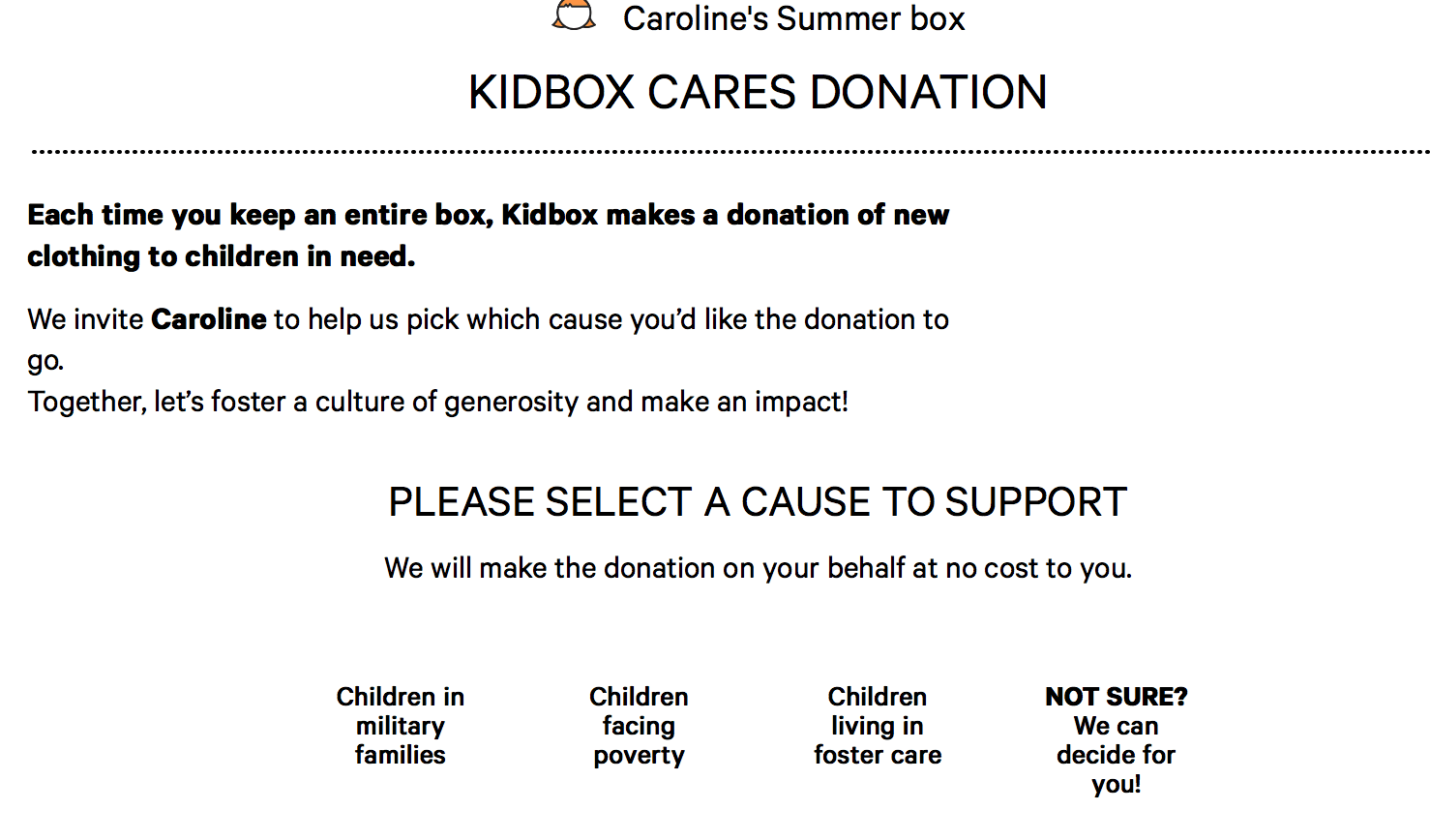 Kidbox Cares