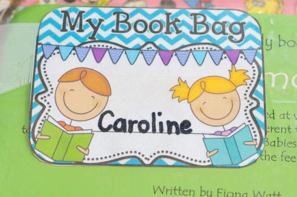 Book Bag label