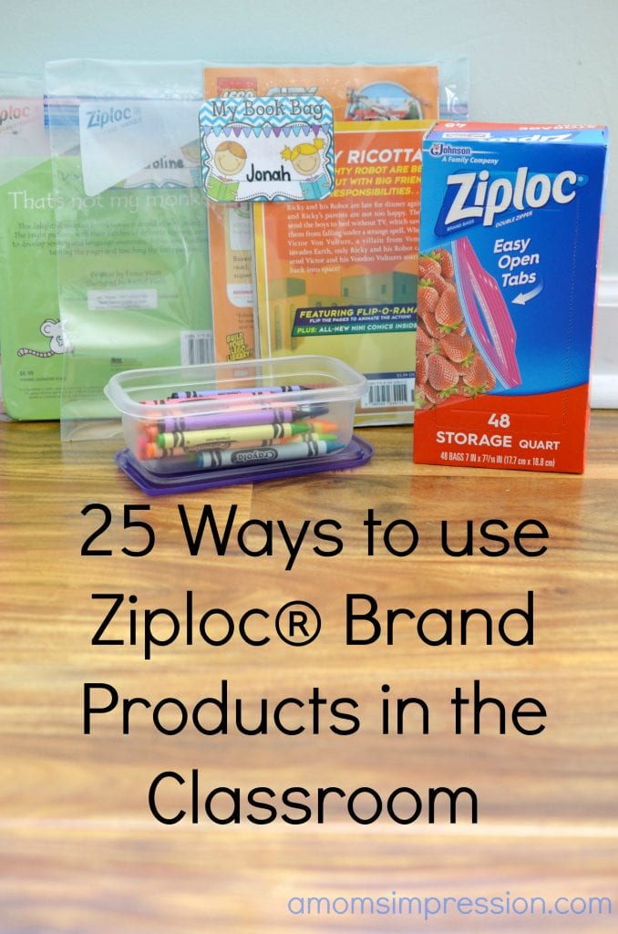 Ziploc products in classroom