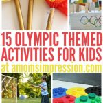 Get in the spirit of the Olympics with these 15 fun and challenging Olympic activities for kids including Olympic crafts! #Olympics