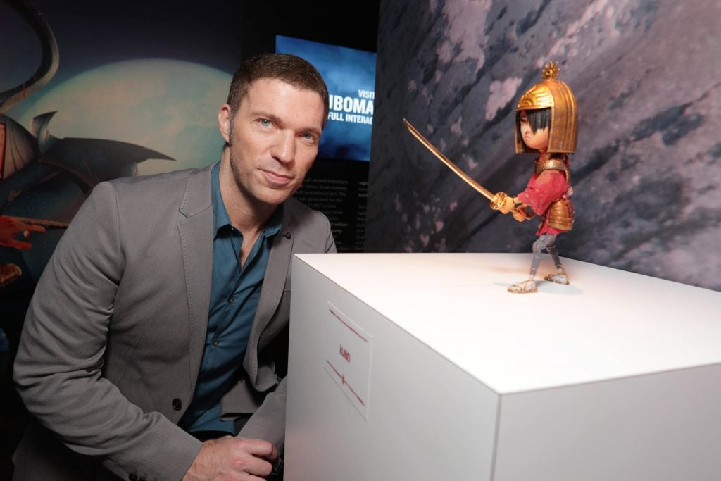 """Director/Producer Travis Knight seen at Focus Features Los Angeles Premiere of LAIKA """"Kubo and The Two Strings"""" on Sunday, Aug. 14, 2016, in Universal City, Calif. (Photo by Eric Charbonneau/Invision for Focus Features/AP Images)"""