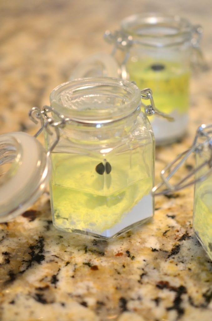 Food Coloring in Jars