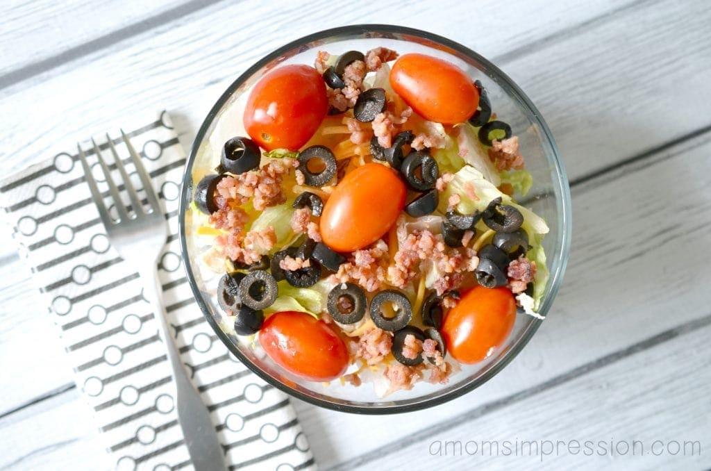 Olives on Salad