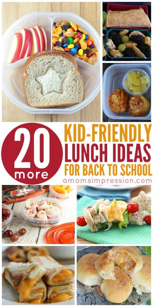 Get 20 Kid-Friendly Lunches perfect for lunches. These recipes are fun and will please picky eaters. Simple, healthy recipes perfect for kids, teens and preschoolers.