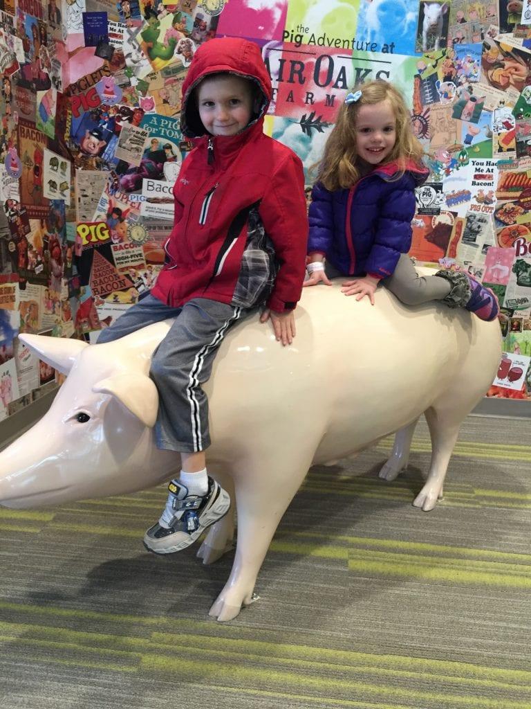 Riding a pig