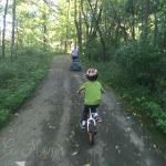 riding our bikes