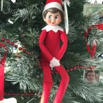 Elf on the Shelf in a tree