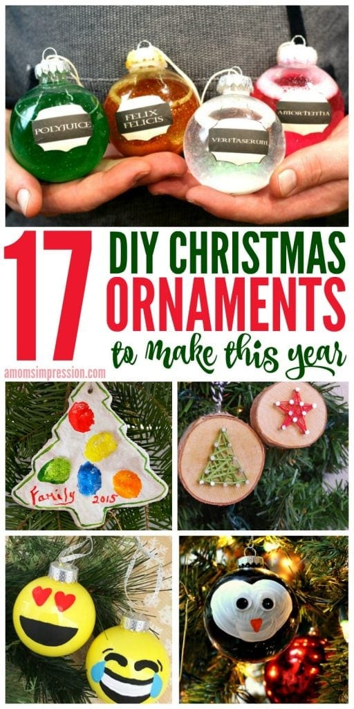 Christmas Ornaments Diy.17 Diy Christmas Ornaments You And Your Kids Will Love To Make