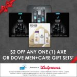 Dove Men+Care and Axe Holiday Gift Packs at Walgreens.