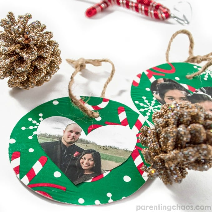 Using Christmas Ornaments to make photo memories