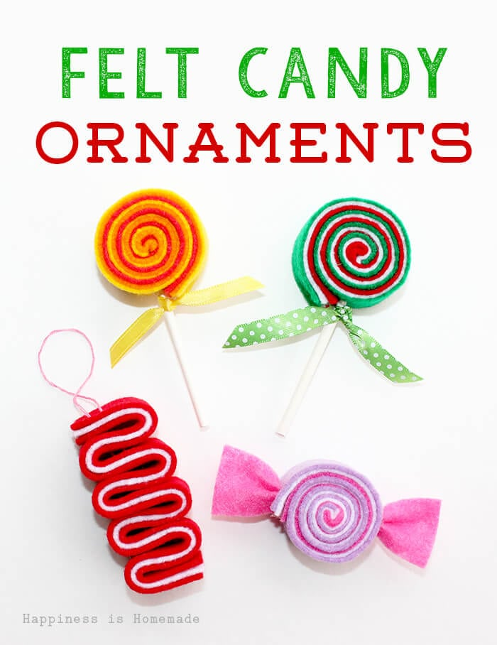 Felt Candy DIY Ornaments