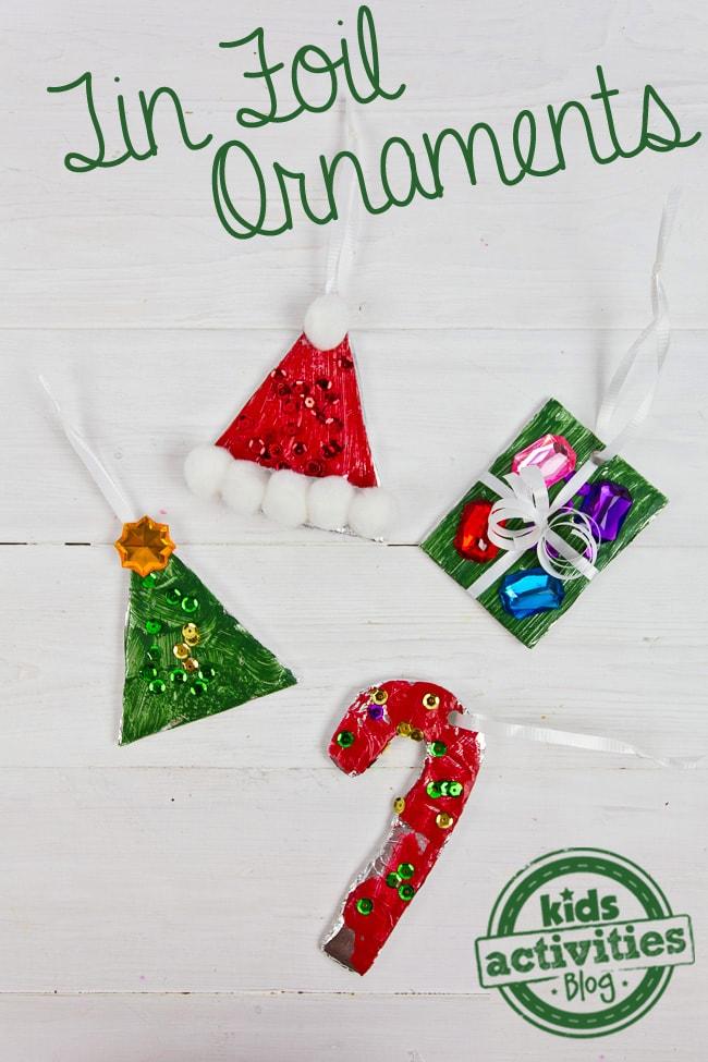 Tin Foil DIY Ornaments