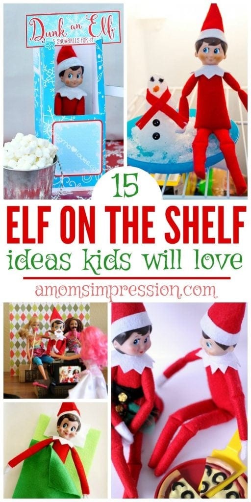 Kids love finding their Elf on the Shelf every morning. The elves arrival means mischief and funny situations. These ideas include funny setups and easy clothes for your friendly little elf.