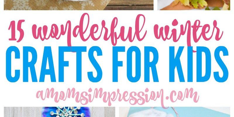 Winter Kids Crafts Ideas