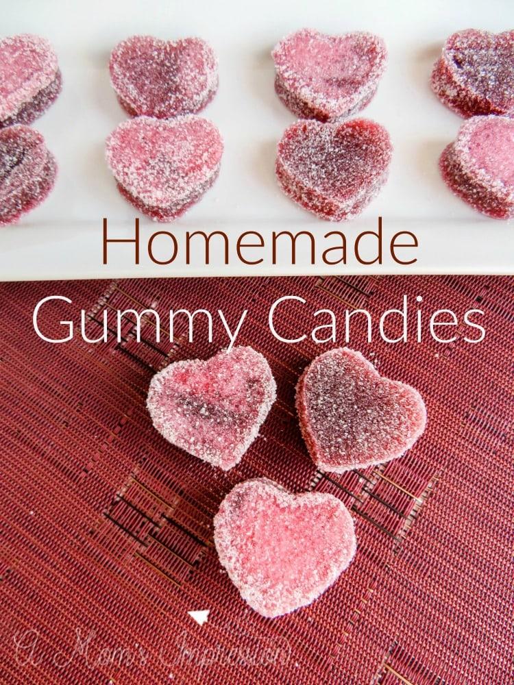 Homemade Gummy Candies Heart Shaped Gummies