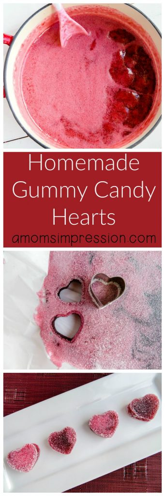 homemade gummy candy hearts