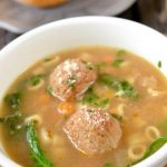 Instapot italian wedding meatball soup