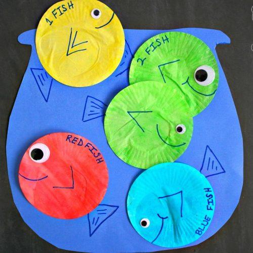 1 Fish 2 Fish Red Fish Blue Fish Craft